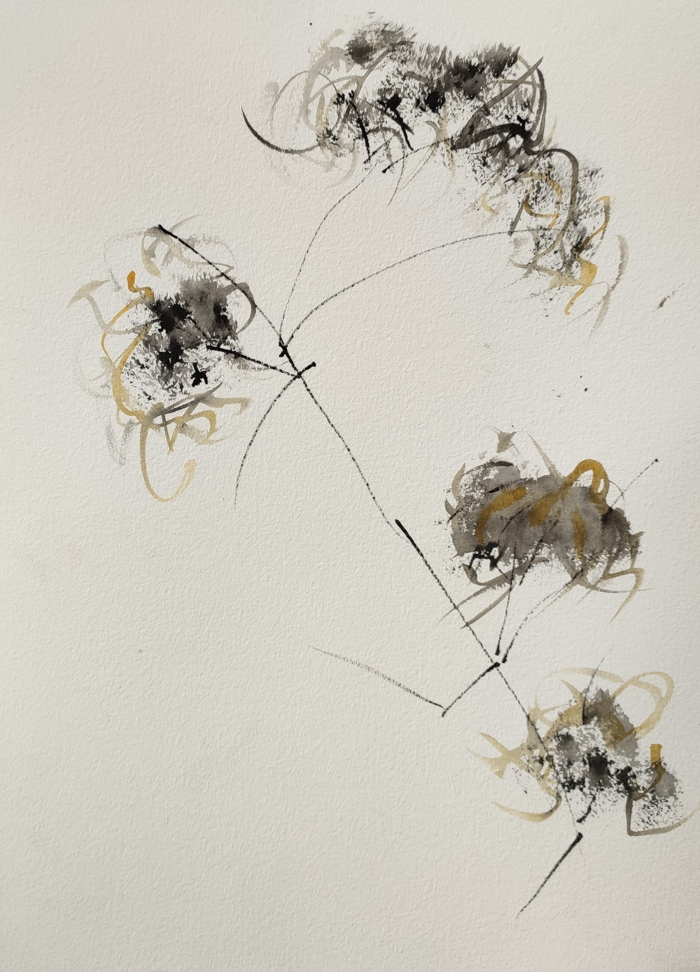 Wilder Wein 2020 Ink and Watercolour on Paper © Christiane Weismüller